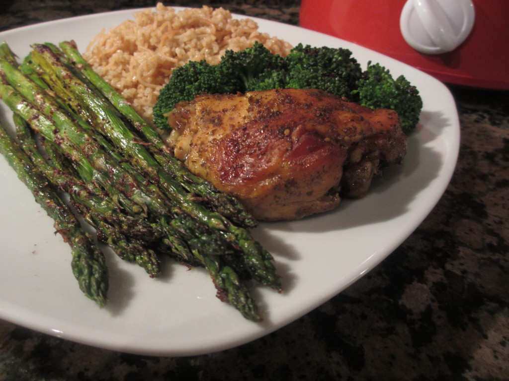 Za'atar chicken and asparagus