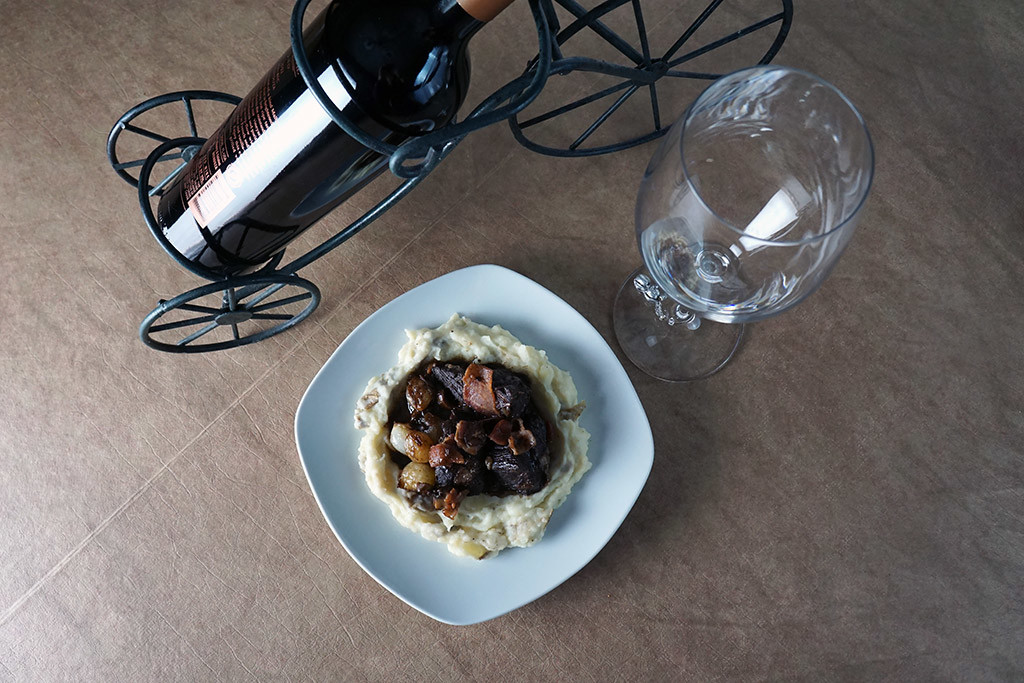 Boeuf Bourguignon and Wine